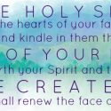 Come Holy Spirit…In Remembrance